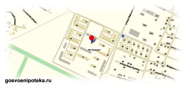 микрорайон на карте